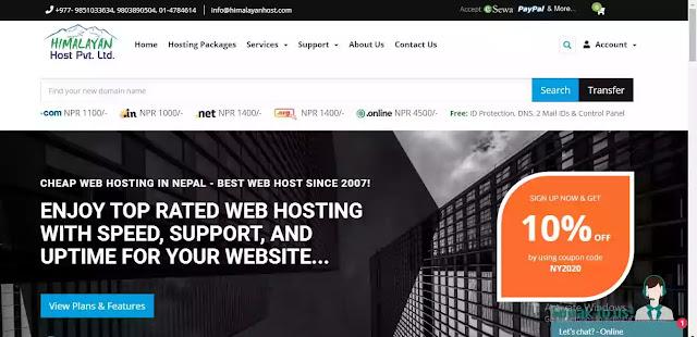Himalayan host best 5 web hosting in Nepal
