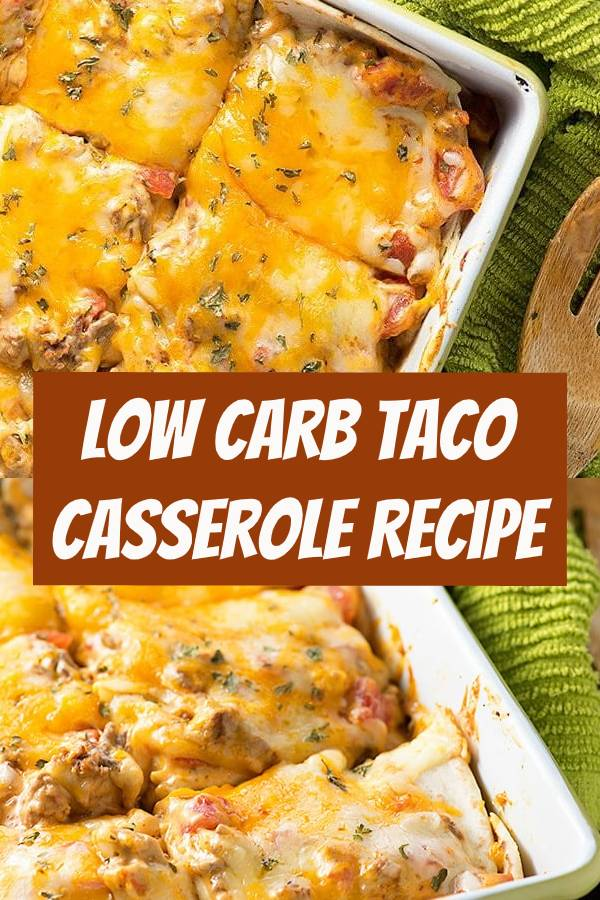 This low carb taco casserole is such an easy dinner and my whole family enjoys it. It whips up in minutes and makes 6 servings with 5 net carbs each. You're going to love this one! #taco #casserole #lowcarb #dinner