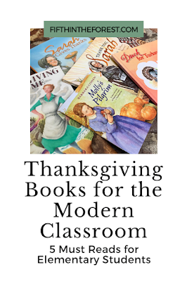 Pin image for Thanksgiving Books for the Modern Classroom: 5 Must Reads for Elementary Students