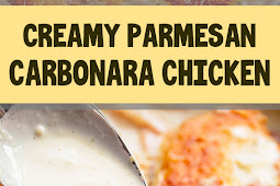 Creamy Parmesan Carbonara Chicken (No Egg)