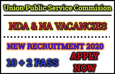 upsc NDA National Defence Academy and NA Naval Academy  Vacancies 2020 Apply Now spardhapariksha tayari .com
