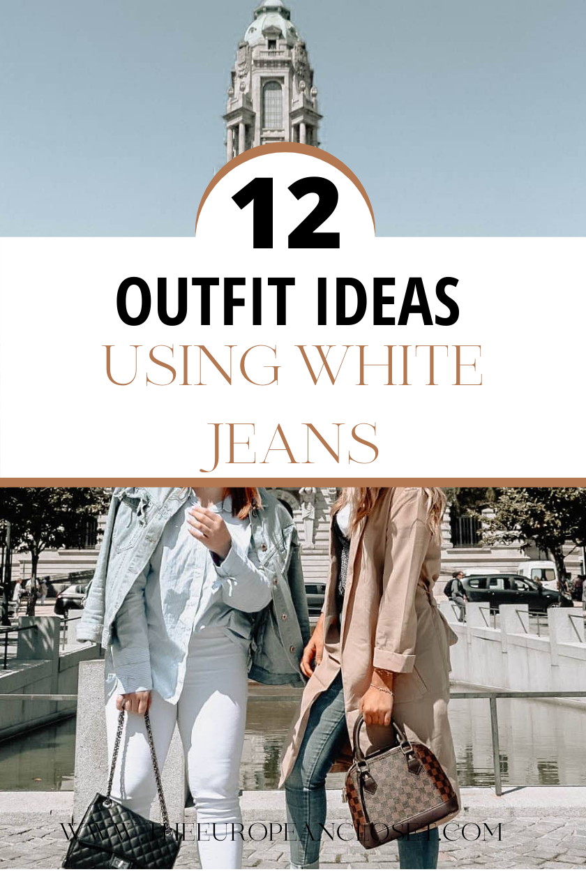 We usually associate white or light-colored jeans with spring and summer. Not only jeans but all light-colored items of clothing. I'm pretty sure this has to do with the fact that dark colors capture heat while light colors repel it. Well, today I'm here to contradict this. I've gathered a few outfits to show you how you can wear light-colored jeans during winter too. Oh and I've also thrown a few spring-ish outfits in there for the upcoming season, just for good measure!