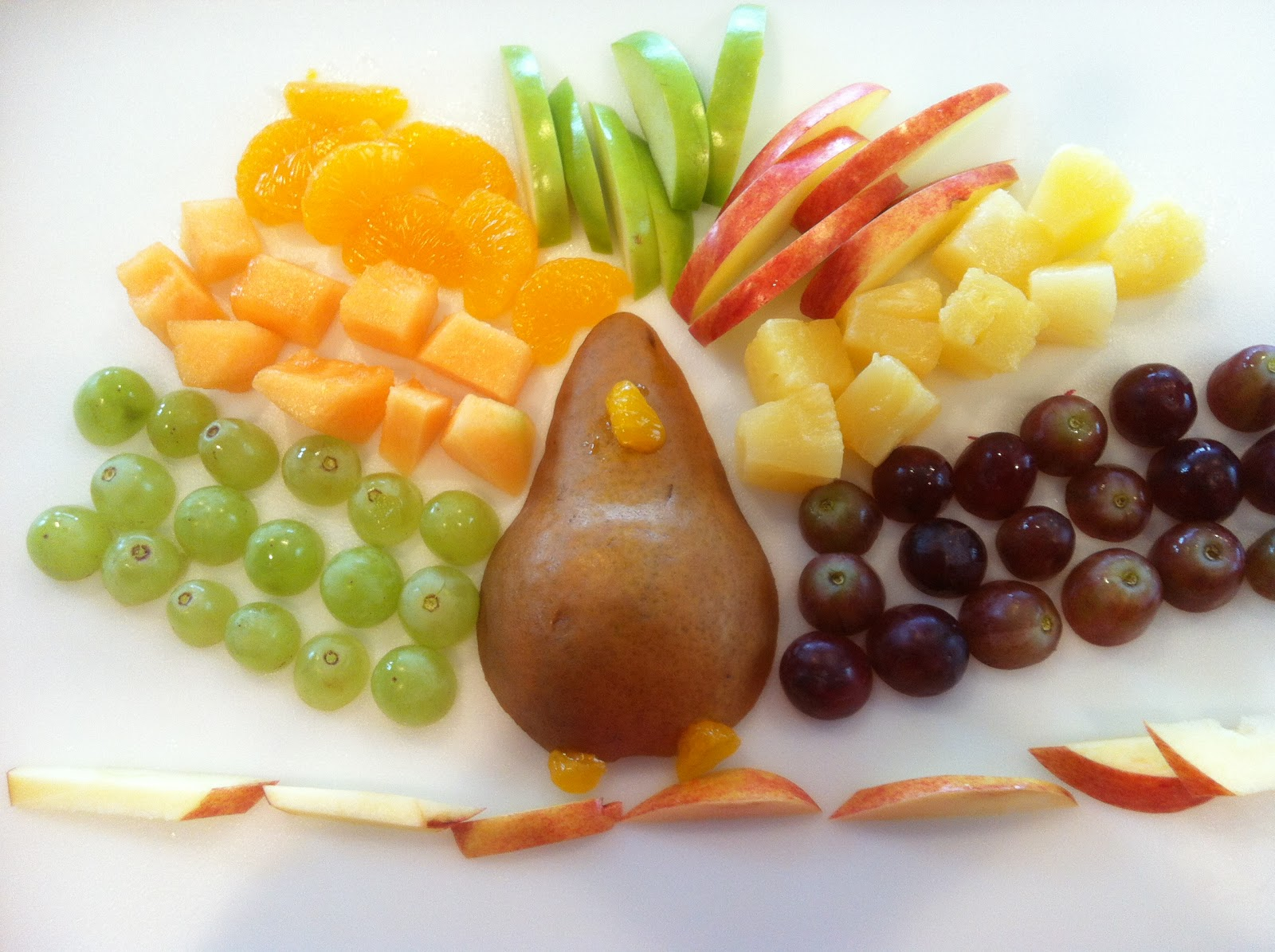 Push Button Charlie Turkey Fruit Platter
