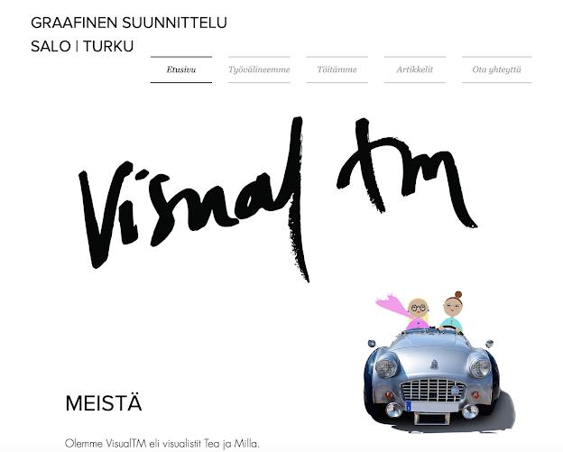 VisualTM verkkosivun kansikuva