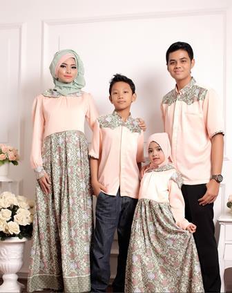 Model Baju Batik Couple Gamis Untuk Keluarga Terbaru Dan Modern