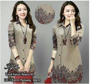 Pakaian Wanita model Batik