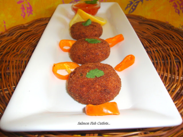 images of Salmon Fish Cutlets / Fish Cutlet Recipe / Fish Tikki Recipe