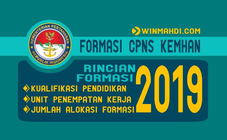 Rincian Formasi CPNS Kemhan 2019