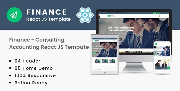 Best Consulting, Accounting React JS Template