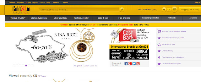 Precious Jewellery Online- Gold24.in