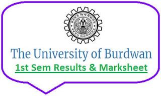 Burdwan University 1st Sem Result