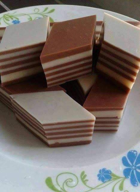 Agar-Agar Susu lapis Coklat