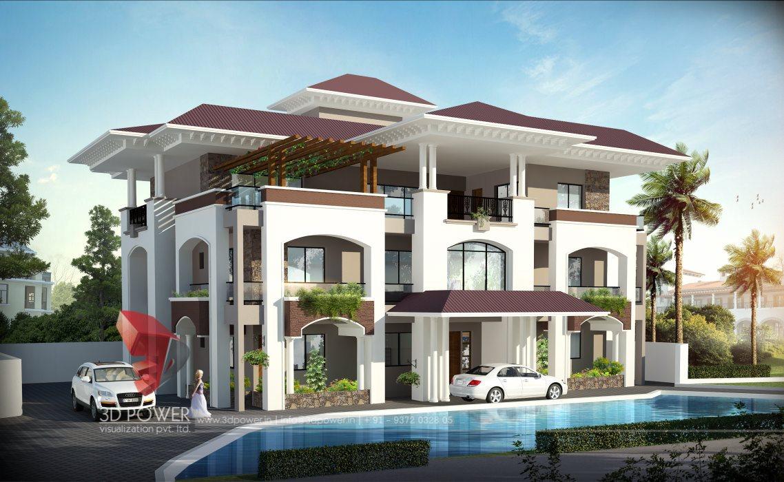 Fantastic Unique Bungalow Elevation Design 3D Rendering Bungalow Largest Home Design Picture Inspirations Pitcheantrous