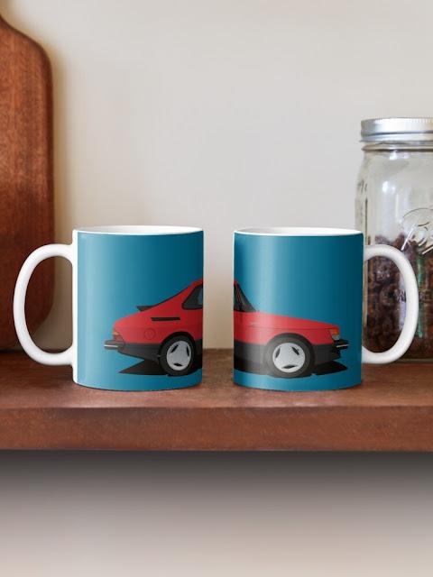 Saab 900 Turbo 16 Aero Mk1 coffee mugs