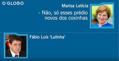 Print da imagem de dona Marisa com Fabio Lula
