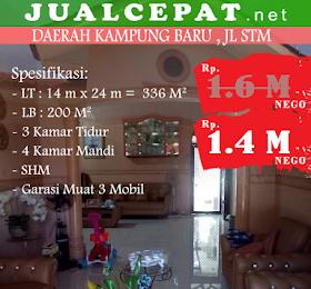 RUMAH DIJUAL: di jualcepat RUMAH di daerah Kampung Baru Medan, Jl. STM  <del>Rp.1.600.000.000</del> <price>Rp.1.400.000.000</price> <code>MH-EVHOT1</code>