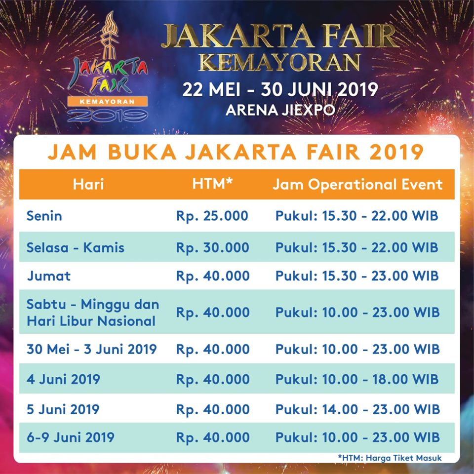 Diskon Promo Jakarta Fair Kemayoran PRJ 22 Mei - 30 Juni 2019