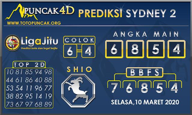 PREDIKSI TOGEL SYDNEY2 PUNCAK4D 10 MARET 2020