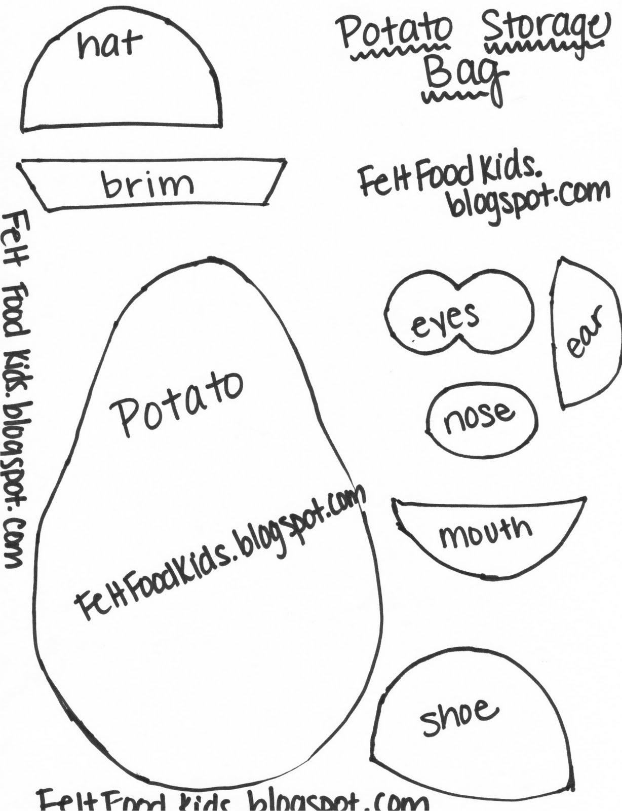 Felt Food Kids Potato Toy Parts Storage Bag Tutorial
