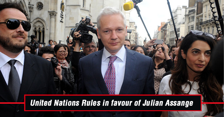United Nations Rules in Favor of WikiLeaks Founder Julian Assange