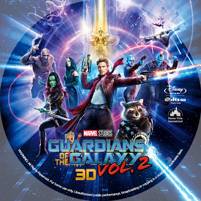 Guardians of the Galaxy Vol. 2 3D Bluray Label