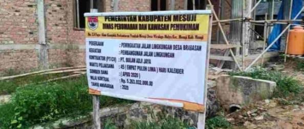 PT. Bulan Adi Jaya Pemenang Tender Mega Proyek Kab. Mesuji, Diduga Tak Miliki Dukungan Alat Berat.