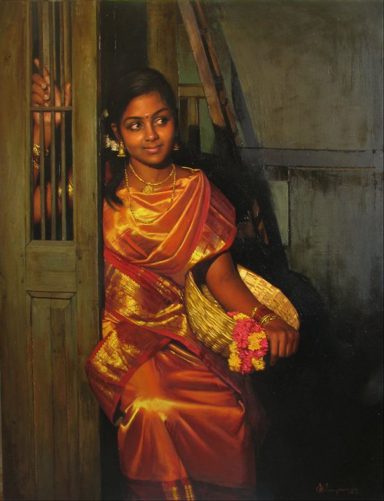 50 Most Beautiful Indian Women Paintings of All Times