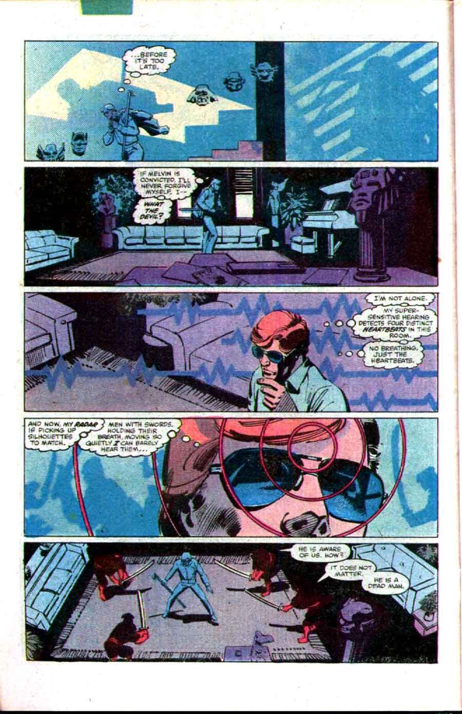 Daredevil v1 #174 marvel comic book page art by Frank Miller