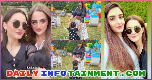 Aiman Khan and Amal clicks from Humayun Alamgir's son Humayal's birthday celebration