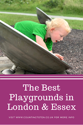 The Best Playgrounds in London and Essex with a child playing