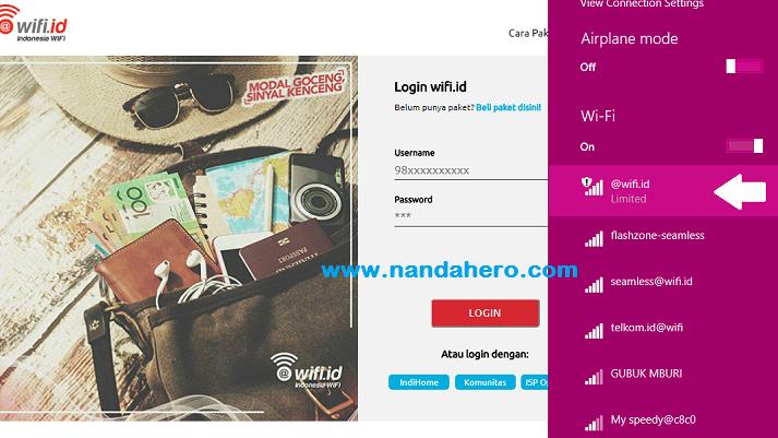 Cara Menggunakan Wifi Id Untuk Internet Gratis Mahasiswa Ut Universitas Terbuka Nanda Hero