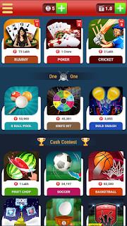 Big cash app में कितने game हैं।