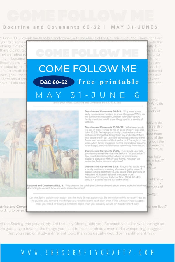 Come Follow Me Weekly Printable May 31 Pinterest Pin.