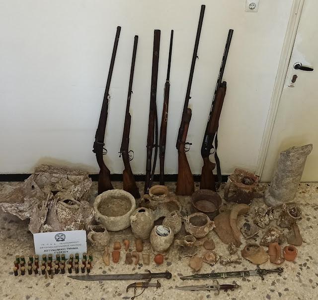 Συλληψη για αρχαιοκαπηλία και όπλα στη Σπάρτη