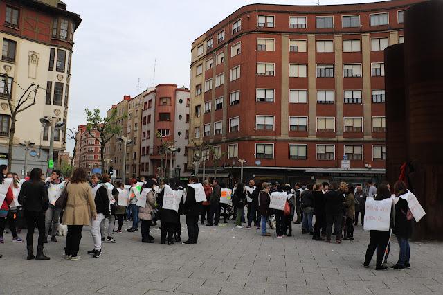 manifestaciónb trabajadoras de supermercados Dia