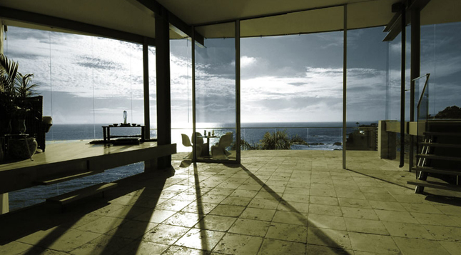 Picture of the terrace with the ocean view