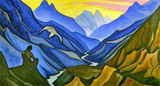 Canvas Painting by Nicholas Roerich