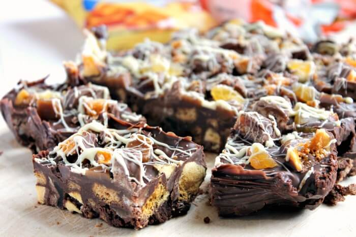 Toffee Apple and Chocolate Tiffin