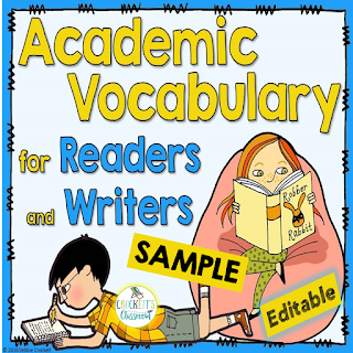Check out this free sample to see how you can help your students master the academic vocabulary they need to be successful on academic tasks and tests.