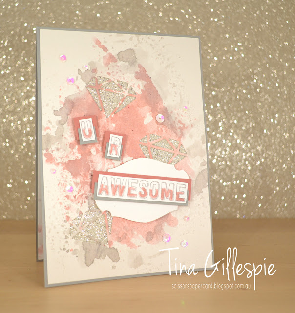 scissorspapercard, Stampin' Up!, Art With Heart, Colour Creations, Genuine Gems, Birthday Cheer, Eclectic Layers Thinlits, Smooshing