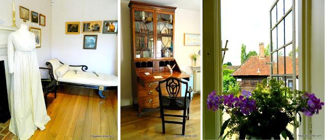 Interior da casa onde Jane Austen morou
