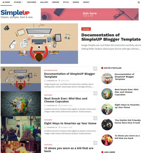 simpleup blogger template gratis keren