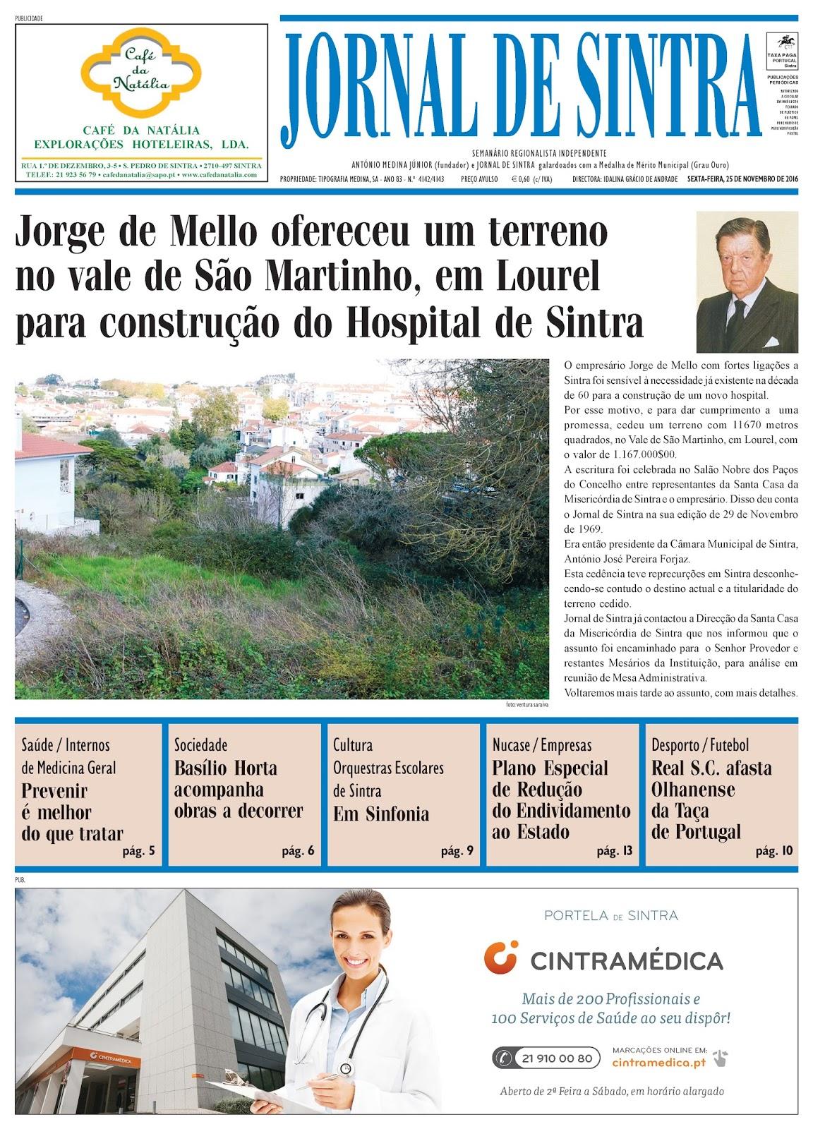 Capa da edição de 25-11-2016