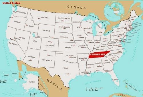 Tennessee Amerika'nın Neresinde