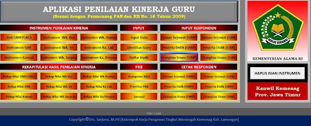 Aplikasi PKG (Penilaian Kinerja Guru) - Kanwil Kemenag Jawa Timur