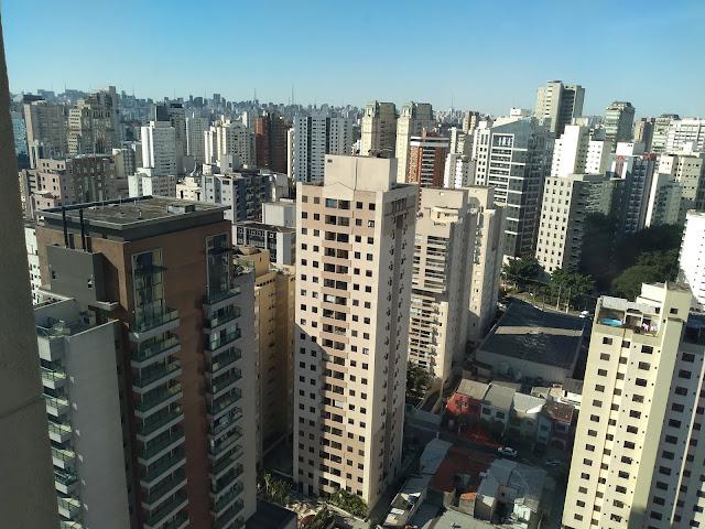 Vista de São Paulo, desde o hotel Mercure Vila Olímpia