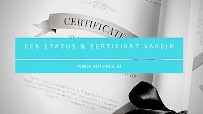 Status vaksinasi, sertifikat vaksin