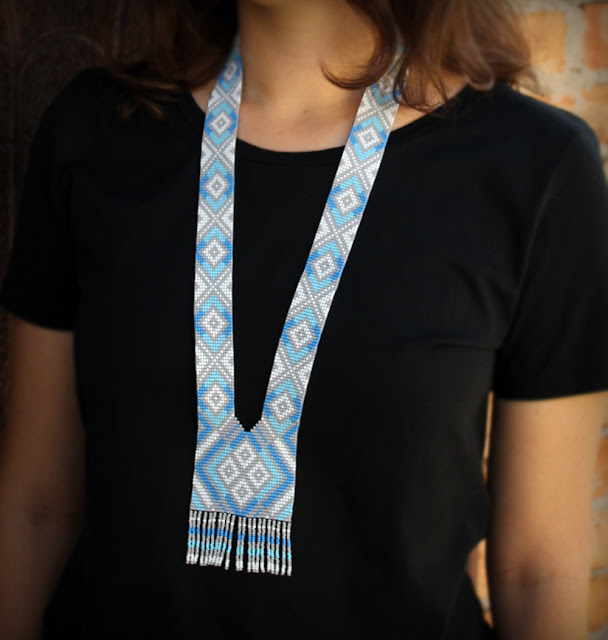 купить нежный гердан без низок из японского бисера современное украшение