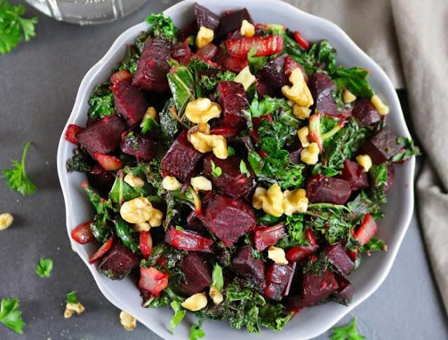 Detox Kale & Beet Salad #healthy #salad