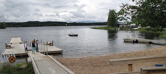 Peurungan Kylpylän ranta uimaranta Hotelli Peurunka ranta